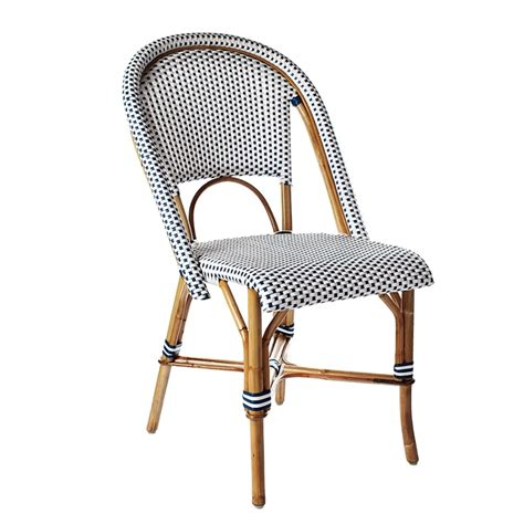 Navy Bistro Chairs Navy And White Woven Dining Chair House Decor