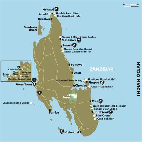 zanzibar map zanzibar hotels