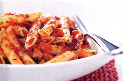 tomato pasta recipe pasta with simple tomato sauce recipe taste com au