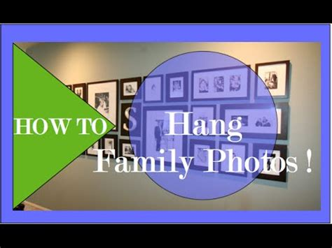 how to hang family pictures interior design diy family photo gallery how to hang