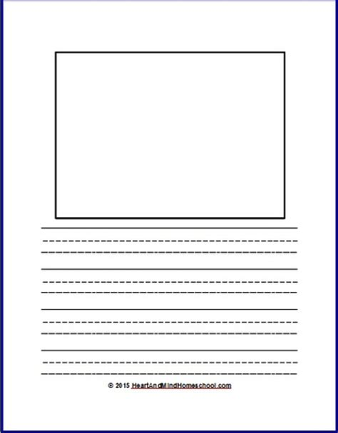 printable writing and drawing paper free printable homeschool worksheets