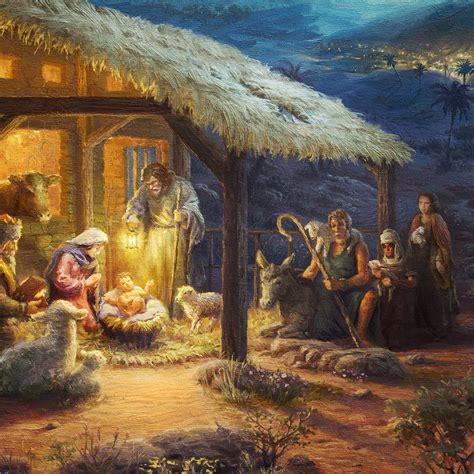 nativity  limited edition art thomas kinkade studios