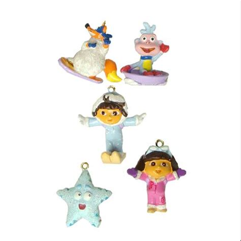Set of 5 Dora the Explorer Mini Swiper, Boots & Friends Christmas Ornaments   Walmart.com