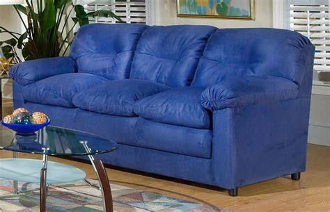 Blue Sofa Set 6300 Sofa Loveseat Set In Cobalt Blue Fabric By Chelsea