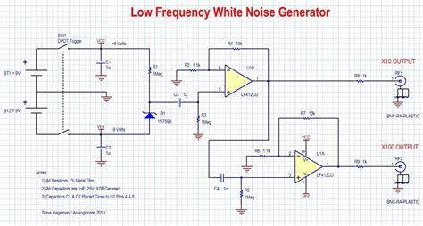zener diode noise white noise source flat from 1hz to 100khz edn