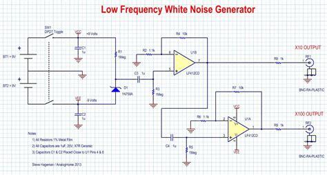 zener diode noise spectrum white noise source flat from 1hz to 100khz edn