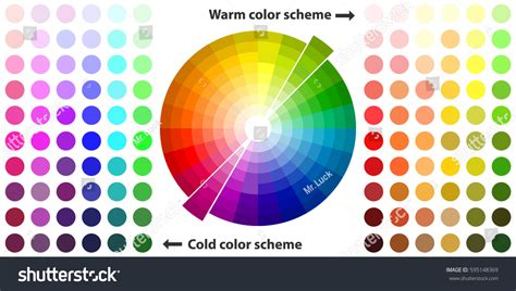 cool color schemes color palette color schemes warm colors stock vector