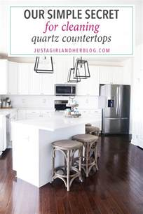 our simple secret for cleaning quartz countertops just a