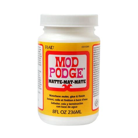 Decoupage Modge Podge - mod podge 8 oz matte decoupage glue cs11301 the home depot