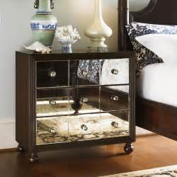 Top Outdoor Furniture Brands - tommy bahama by lexington home brands royal kahala starlight mirrored 3 drawer nightstand