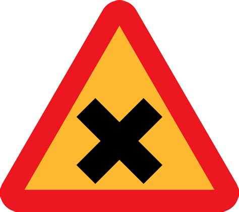 onlinelabels clip art cross road sign