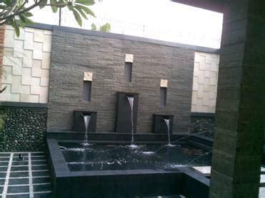 kolam ikan air mancur jasa pembuatan taman minimalis