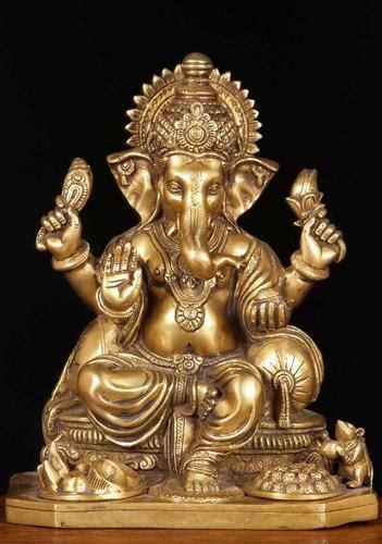 divine idols statue murti brass ganesha statue