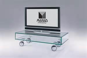 meuble tv en verre