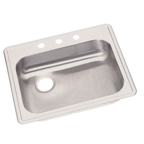elkay dayton top mount stainless steel 25 in 3
