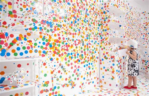 Polka Dot Wall Stickers spot on the artist who lets children cover white room