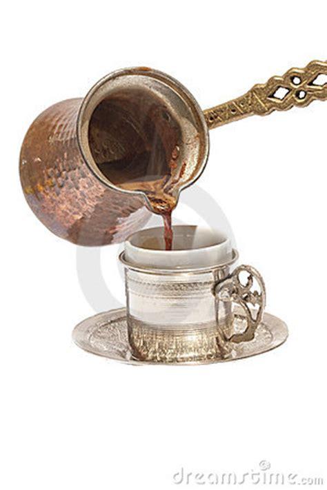 turkse koffiemachine turkse koffie royalty vrije stock afbeeldingen