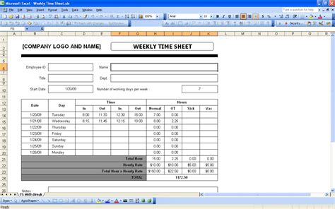 8 timesheet invoice templates free sample example format