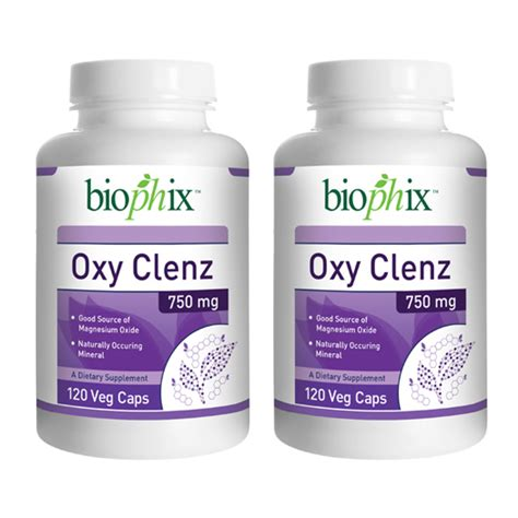 Does Magnesium Detox The by Biophix Oxy Clenz 750 Mg 120 Caps 2 Pack Magnesium Oxide