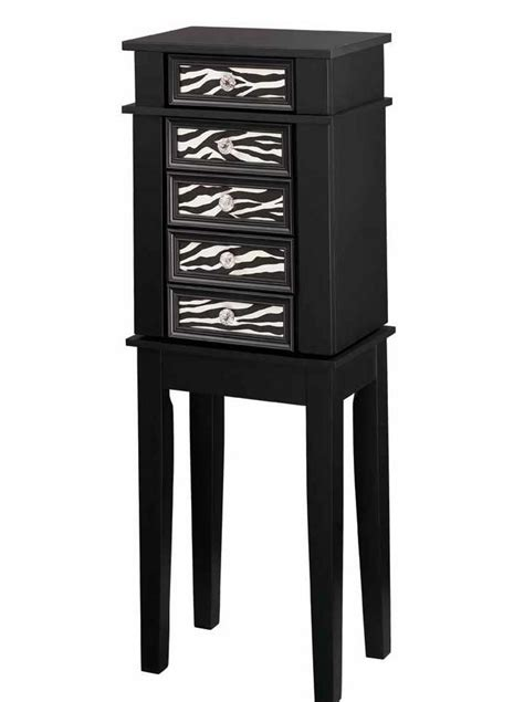 zebra jewelry armoire essential home jewelry armoire zebra print shop your way