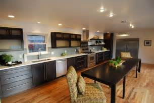 straight line kitchen design contemporary remodel old denver ranch contemporary