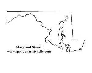 Maryland State Outline Map by States And Country Stencils Page 3