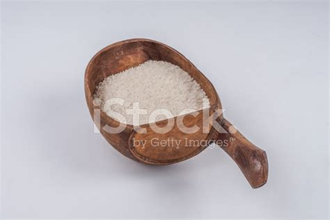 Wooden Rice Spoon wooden spoon with rice stock photos freeimages