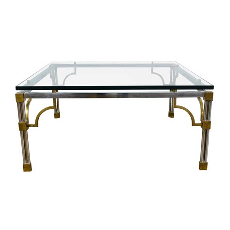 Brass Glass Coffee Table 90 Vintage Brass And Glass Coffee Table Tables