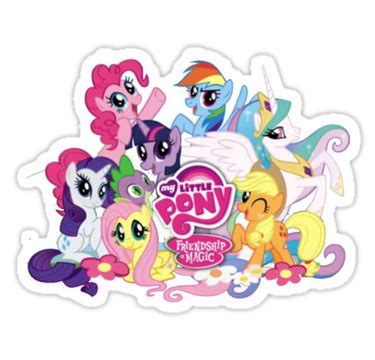 Skin Decor Laptop 10 Gambar quot my pony mane6 and logo quot stickers by eden51 redbubble