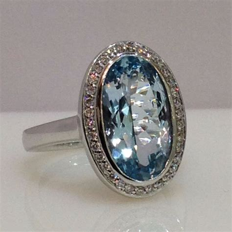 14ct white gold topaz and ring catawiki