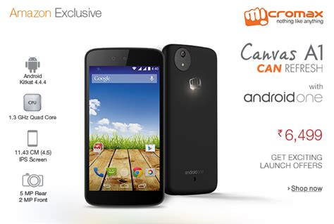 android one phone micromax canvas a1 android one smartphone offer price review droidgreen