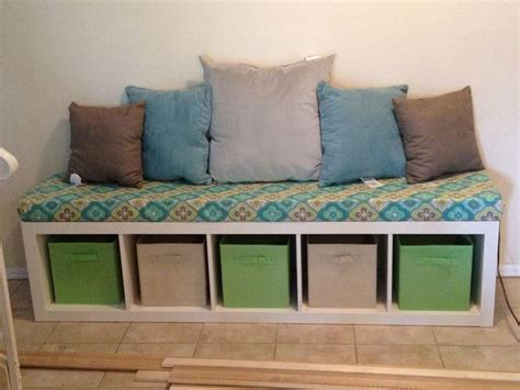 bookshelf bench ikea expedit bookshelf bench entryway pinterest