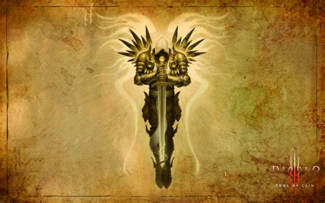 diablo iii wallpaper book of cain archangel tyrael