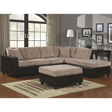 L Shaped Sectional With Chaise Coaster Henri L Shaped Sectional With Reversible Chaise In Beige 503015