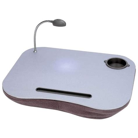 Portable Laptop Desk Pad With Light Cup Pen Holder New Ebay Laptop Desk With Light