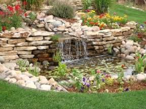 Backyard With Garden Backyard Landscaping House Design With Small Ponds
