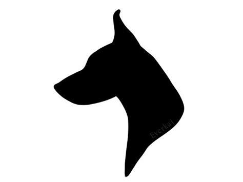 dog head silhouette clip art dog head silhouette pet design pinterest art