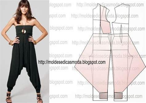 pattern for harem jumpsuit transforma 199 195 o de macac 195 o 7 moldes moda por medida