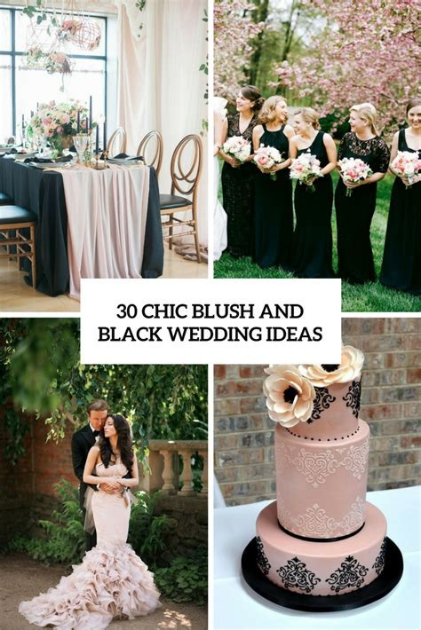 30 Chic Blush And Black Wedding Ideas   Weddingomania