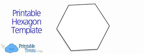 free printable hexagon template printable hexagon template printable treats