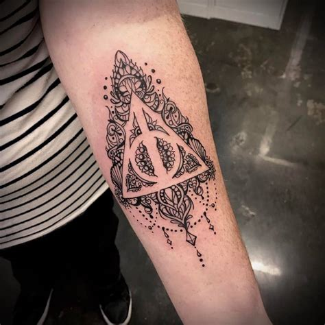 harry potter deathly hallows tattoo crimson art collective