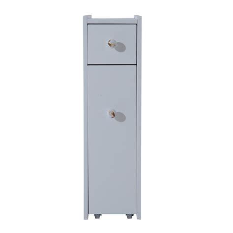 White Floor Cabinet Bathroom by Homcom Slide Out Bathroom Floor Cabinet White Clearance