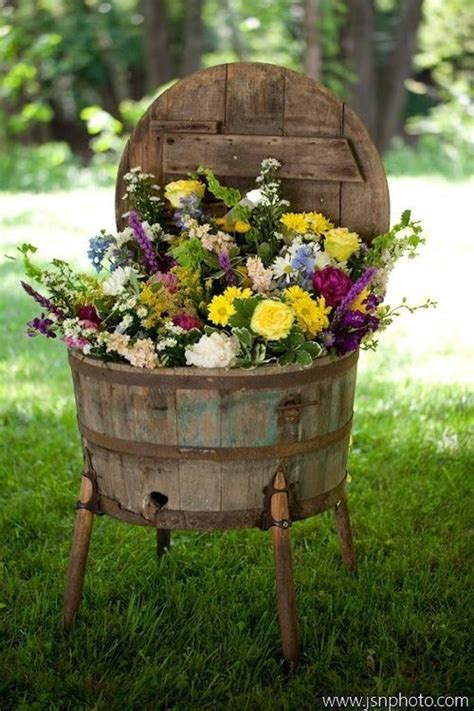 Rustic Garden Idea Follow Us Flowers Pinterest Rustic Flower Garden