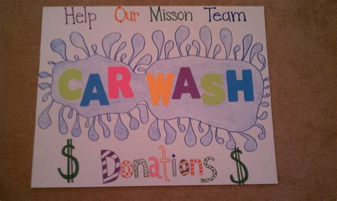 Handmade Posters - wash fundraiser poster ideas car posters