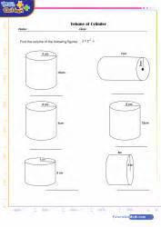 printable math worksheets volume cylinder math geometry games quizzes and worksheets for kids