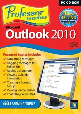 professor teaches outlook 2010 interactiv e traning software schedule contact management find offers