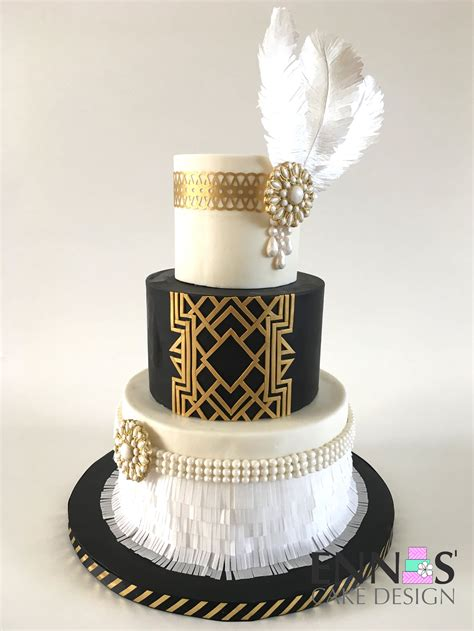 great gatsby cake video tutorial   great gatsby cake art deco cake wedding cakes