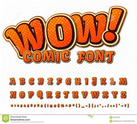 font pop art creative comic font vector alphabet in style pop fonts