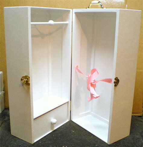 18 inch doll storage cabinet 82 doll trunk wardrobe a cute pink diy 18 inch doll