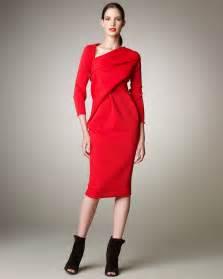 Donna karan asymmetric knit dress